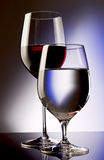 Red wine and water Stock Photo
