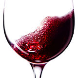 Red wine on white background Stock Photography