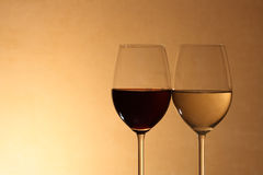 Red Wine And White Wine Stock Photos