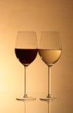 Red Wine And White Wine Stock Image