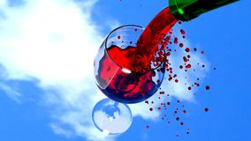 Red Wine, Wine, 3D, Art, Blender Royalty Free Stock Photos