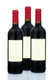 Red wine in wine bottles Stock Photos