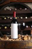 Red wine in wine cellar Royalty Free Stock Photography