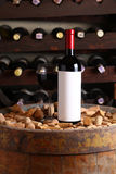 Red wine in wine cellar Royalty Free Stock Image