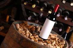 Red wine in wine cellar Stock Photography