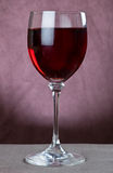 Red wine in wine glass Stock Images