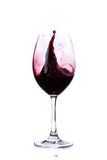 Red wine in a wine glass isolated on white Royalty Free Stock Photography