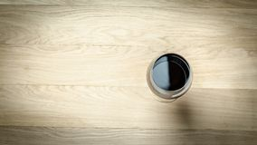 Red Wine In A Wine Glass. The Top View Stock Photos