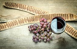 Red Wine In A Wine Glass. The Top View Stock Images