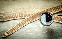 Red Wine In A Wine Glass. The Top View Royalty Free Stock Photo