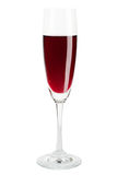 Red Wine in a Wineglass. Isolated on white background stock photography