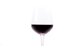 Red wine in a wineglass Stock Image