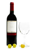 Red wine with wineglasses and grape Royalty Free Stock Photo