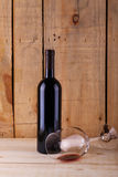 Red wine on wood Royalty Free Stock Image