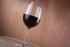 Red wine on wood Royalty Free Stock Photos