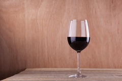 Red wine on wood Royalty Free Stock Photography
