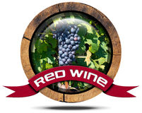Red Wine - Wooden Icon Royalty Free Stock Photography