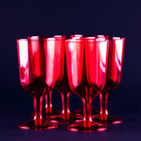 Red wineglasses Stock Photos