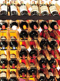 Red wines on bordex storage shelf Royalty Free Stock Images