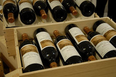 RED WINES BOTTLES Stock Images