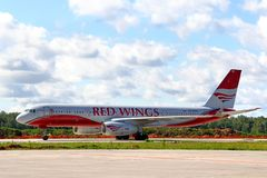Red Wings Airpines Tupolev Tu-204 Stock Photography