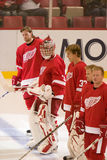 The Red Wings Take The Ice Royalty Free Stock Image