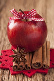 Red winter apples Stock Photography