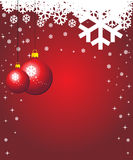 Red winter background. With place for text Stock Photo