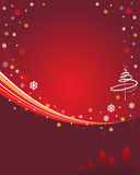 Red winter background. Winter background with place for your text Stock Photos