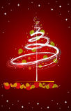 Red winter background. Winter background with place for your text Stock Images