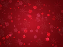 Red winter background. With snowflakes Royalty Free Stock Photography