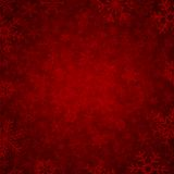 Red winter background. With beautiful various snowflakes Stock Image