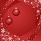 Red winter background. Illustration of red winter background Stock Images