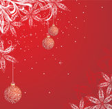 Red winter background. With snowflakes Stock Image