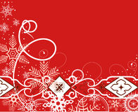 Red winter background. Vector illustration Royalty Free Stock Photos