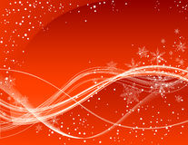 Red winter background. Vector illustration, AI file included Royalty Free Stock Photo
