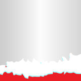 Red winter background. Vector illustration Stock Image