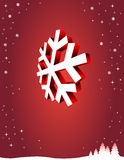 Red, winter background. With place for your text Stock Images