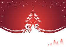 Red winter background. With place for your text Royalty Free Stock Images