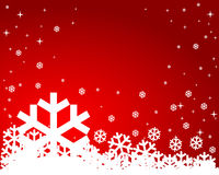 Red winter background. With place for your text Stock Image