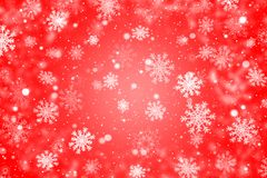 Red christmas background with snowflakes. Red winter background with snowflakes vector illustration