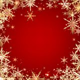 Red winter background with snowflakes. Vector illustration Royalty Free Stock Photo