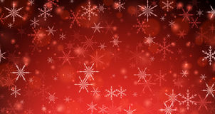 Red winter background with snowflakes. Vector illustration Royalty Free Stock Images