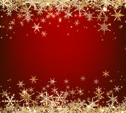 Red winter background with snowflakes. Vector illustration Royalty Free Stock Photos