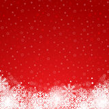 Red winter background. Vector illustration Royalty Free Stock Images
