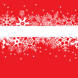 Red Winter Banner Royalty Free Stock Photos
