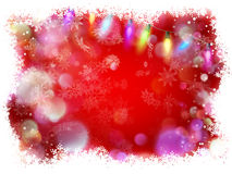 Red winter card with snowflakes. EPS 10. Vector file included Stock Photo
