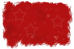 Red winter Christmas background stars pattern. Red winter Christmas background with stars pattern, New Year digital illustration Stock Images
