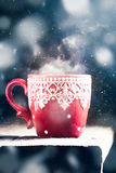 Red winter cup Stock Photography
