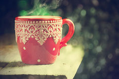 Red winter cup Royalty Free Stock Image